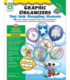 Graphic Organizers That Helps Struggling Students includes 51 reproducible graphic organizers designed to improve skills in time management, scheduling, classroom routines, reading, and so much more! Since children who have special needs often require more than one type of instruction for retaining and recalling information, the graphic organizers feature spatial and visual modifications such as darker, heavier cutting lines, multiple steps that are easy to cut apart, and flexible directions…