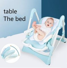 289.00$  Watch now - http://alixlk.worldwells.pw/go.php?t=32743587717 - Multi-function baby infant children eat desk and chair folding learn to sit chair is portable chair stool eat chair 289.00$