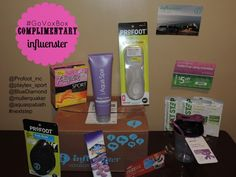 #GoVoxBox was received complimentary from @Influenster for product testing #dedivahdeals @influensterVox @profoot_inc @playtex_sport @Blue Diamond Almonds @Müller Yogurt @Aqua Spa Bath and Body Products #nextstep