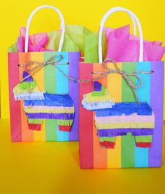 set of 10 Fiesta Favor bags by PartyMamaCrafts on Etsy