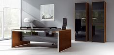 Italian Chairman Office Desk Iponti by Abbondi, design Marco Galimberti
