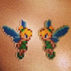 Tinker Bell perler beads by rabidmonkey5