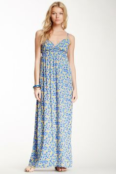 Splendid Sleeveless Floral Maxi Dress