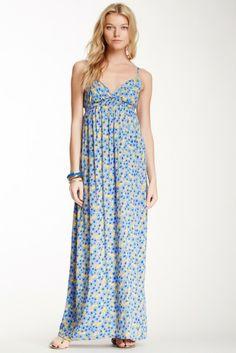 Splendid Sleeveless Floral Maxi Dress