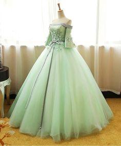 Off Shoulder Ball Gown, Off Shoulder Evening Dress, A Line Evening Dress, Long Evening Gowns, Stunning Dresses, Pretty Dresses, Princess Prom Dresses, Fairytale Dress, Quince Dresses