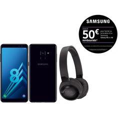 Smartphone Samsung pas cher - Le Samsung Galaxy A8 + casque JBL T600BTNC à 249 €.  #smartphone #mobile #SamsungGalaxyA8+ Smartphone Samsung, Samsung Galaxy, Usb, Electronics, Computer Science, Consumer Electronics