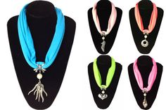 Cute Decorates Jewelry Scarf Necklace Wholesale Cheap wholesale pendant scarves from www.jewelryscarfcanada.com