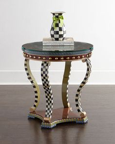 Highland Thistle Accent Table by MacKenzie-Childs at Neiman Marcus.