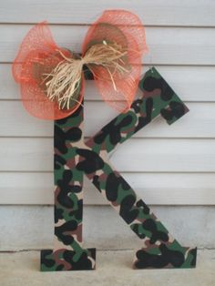 """24"""" Handpainted initial or number. Any color/design...$40. Check out my facebook page (Blue Pickle Designs) for lots more items & ordering!!"""