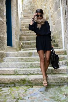 Five interesting casual black dress outfits only for her. Looking for elegant, fancy, sexy and still casual dress, you are on the right place. Casual Street Style, Italian Street Style, Street Chic, Italian Women Style, Italian Chic, Mode Chic, Mode Style, Looks Style, Style Me