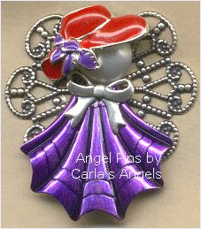 Red Hat Jewelry Angel Pin - $18.95  http://www.carlasangels.com/angels/red-hat-jewelry-angel-pin.html