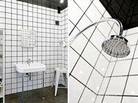 Une salle de bain en carrelage blanc c'est design et pas cher-idees renovation