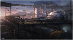 """""""Future Research Facility"""" by #AlejandroOlmedo.  #sciencefiction #scifi"""