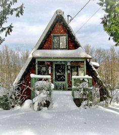 My mansion in heaven will be an A Frame Cabin in the woods, next to a fishing brook :)