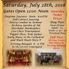 Keycon is looking for 2 volunteers to assist at the Cook's Creek Medieval Festival July 28-29, 2018. The volunteers will get free…