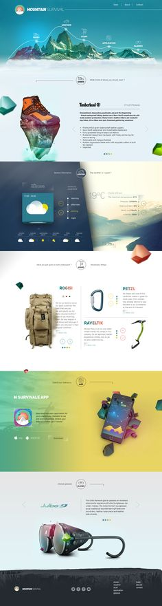 Beautiful Landing Page Of mountain Survival.