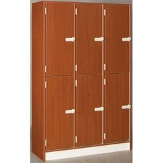Stevens ID Systems 2 Tier 3 Wide Doors Locker Finish: Tulip Red