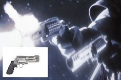 Movie: The Spirit (2008) with Samuel L. Jackson as The Octopus. Featured gun: S Model 500 .50 caliber