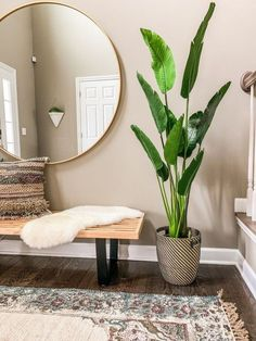 boho chic decor, eclectic decor, eclectic entryway, entryway bench decor, modern… - Home Professional Decoration Decor Room, Bedroom Decor, Room Decorations, Bedroom Ideas, Bedroom Colors, Bench Decor, Cool Apartments, Apartments Decorating, Condo Decorating On A Budget