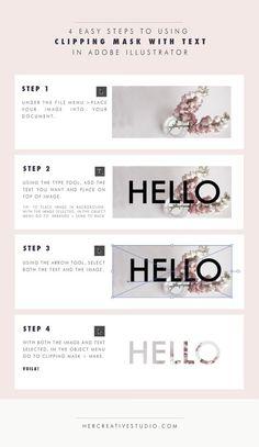 Como colocar máscara em texto no Adobe Illustrator | Clipping mask with text in Adobe Illustrator