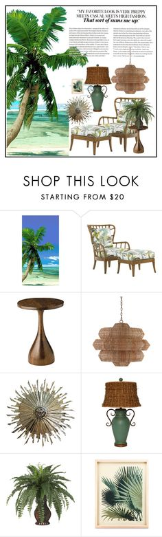 Paradise Style by kikisp on Polyvore featuring interior, interiors, interior design, home, home decor, interior decorating, Tommy Bahama and Currey & Company