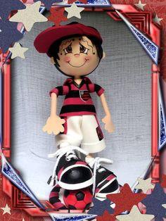 Boneca de EVA em 3D. Times Nacionais Festa Do Flamengo 004b941a1fe16