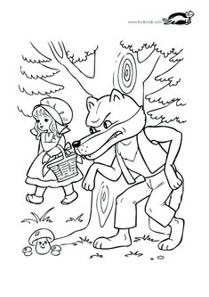 printables for kids Cool Coloring Pages, Window Art, Kindergarten Worksheets, Vintage Embroidery, Stories For Kids, Red Riding Hood, Conte, Little Red, Nursery Rhymes
