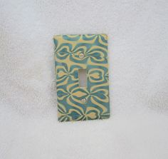 Single Switchplate Electric Switch Cover in Tan and by marcympc, $6.00