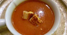 They say it's our storm of the season.   I say it's time for some more soup.   Today's soups is a comforting old stand by; tomato soup...