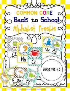 Bck to School Alphabet Freebie from Kadeen Whitby Shop on TeachersNotebook.com -  (28 pages)  - Great multipurpose alphabets for the classroom.
