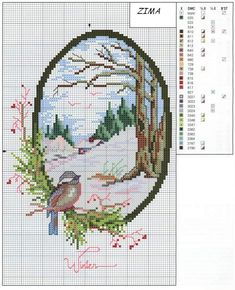 cross stitch - Winter chart