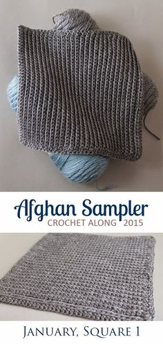 Easy Square 1 (January) of the 2015 Afghan Sampler -- Crochet along and have a finished blanket at the end of the year!   The Inspired Wren