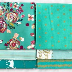Art Gallery - Capsules Le Vintage Chic - Turquoise Yardage Bundle by Bobbie Lou's Fabric Factory