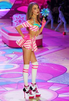 Cara Delevingne at the Victoria's Secret Fashion Show 2012
