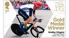 The Wiggo stamp shows the cycling superhero clad in his Team GB kit and bears the words Gold Medal Winner Bradley Wiggins Cycling: Road Men's Time Trial Team Gb Olympics, Summer Olympics, Helen Glover, Royal Mail Stamps, Bradley Wiggins, Gold Medal Winners, Le Champion, Olympic Gold Medals, First Day Covers