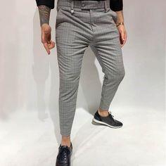 Business Work Plaid Print Paneled Pockets Pants – maxgonia Long Pants, Men's Pants, Type Of Pants, Busy At Work, Autumn Summer, Going Out, Plaid, Sweatpants, Men's Bottoms