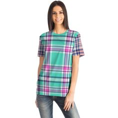 Pink Street, Street Wear, Best T Shirt Designs, High Definition, Cool T Shirts, Tartan, Tie Dye, Light Blue, Crew Neck