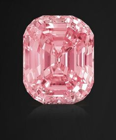 The Graff Pink, a 24.78 carat pink diamond, has a rectangular shape with rounded corners and was once owned by Harry Winston.