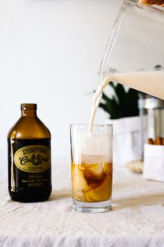 Sweetened with only dates and made with brown rice, this healthy horchata goes into this deluxe cold brew latte - perfect for a warm summer evening.