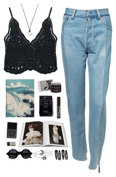 """""""Move your body when the sunlight dies"""" by nandim ❤ liked on Polyvore featuring Chicnova Fashion, Vetements, Abrams, River Island, Muji, FOSSIL, Clips and Chanel"""