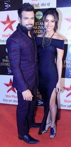 Rithvik Dhanjani and Asha Negi at the 15th Star Parivaar Awards. #Bollywood #Fashion #Style #Beauty #Handsome #Sexy