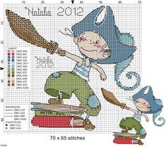 Sa-Si-Sol: Gráficos para meninos Cross Stitch For Kids, Cute Cross Stitch, Cross Stitch Kits, Cross Stitch Charts, Cross Stitch Designs, Cross Stitch Patterns, Cross Stitching, Cross Stitch Embroidery, Stitch Doll