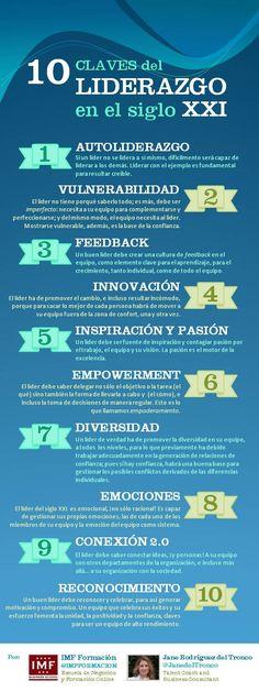 10 claves de liderazgo en el siglo XXI vía @IMF Business School @Janetdeltronco #infografia #infographic