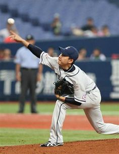 Ryouma Nogami #20 notches his 8th win of the season thanks to solid support from Lions offense, defense and bullpen at Kyocera Dome Osaka on August 9, 2013 in Osaka, Osaka.