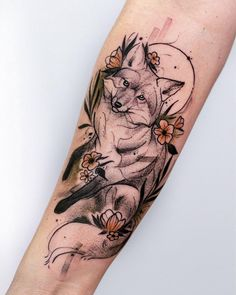 Image uploaded by Mone🐾💄🧜♀️. Find images and videos about art, cool and nature on We Heart It - the app to get lost in what you love. Dream Tattoos, Future Tattoos, Body Art Tattoos, New Tattoos, Girl Tattoos, Sleeve Tattoos, Fox Tattoo Design, Tattoo Designs, Tattoo Ideas