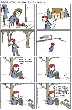 An old Inkygirl.com comic for you writing parents with young children. :-)