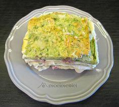 Handmade spinach lasagna