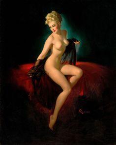 Gil Elvgren's Pin-ups - Vision of Beauty (Unveiling) - Gil Elvgren 1947