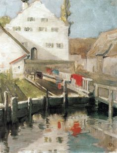 Indersdorf // Franz Marc // 1904 // Painting - oil on canvas // Height: 40 cm (15.75 in.), Width: 31.5 cm (12.4 in.) // Staedtische Galerie im Lenbachhaus (Germany)