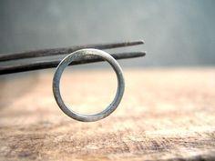 Circle hoop earrings minimal jewelry simple silver studs